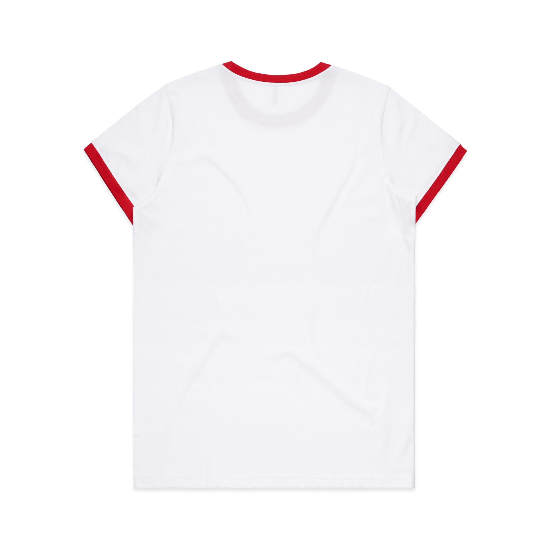 WHITE/RED - BACK