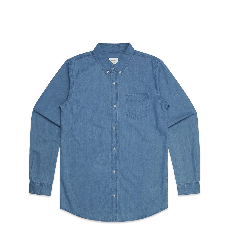 Mens Blue Denim Shirt - 5409