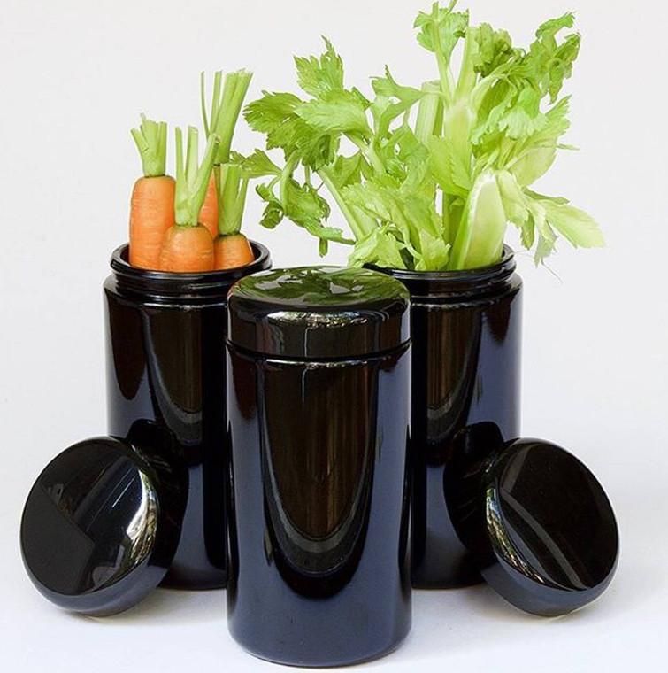 LIfeXplore 500 ml violet glass wide mouth storage jar