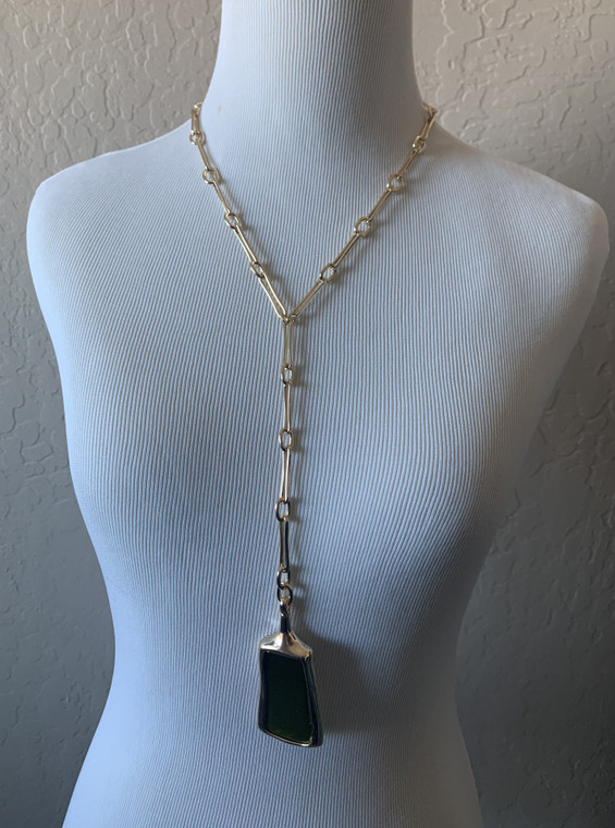 Robert Lee Morris Green Gold Fashion Necklace new for spring.