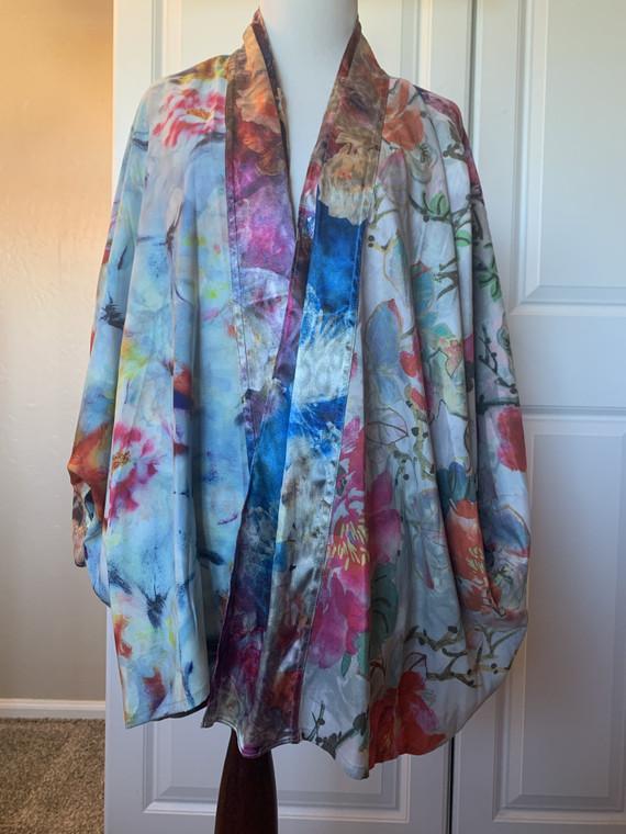 John Mark Mixed Print Reversible Floral Kimono | NWT