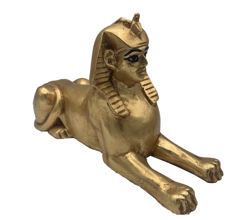 Artisans Guild International Sphinx Gold Leaf Statue.