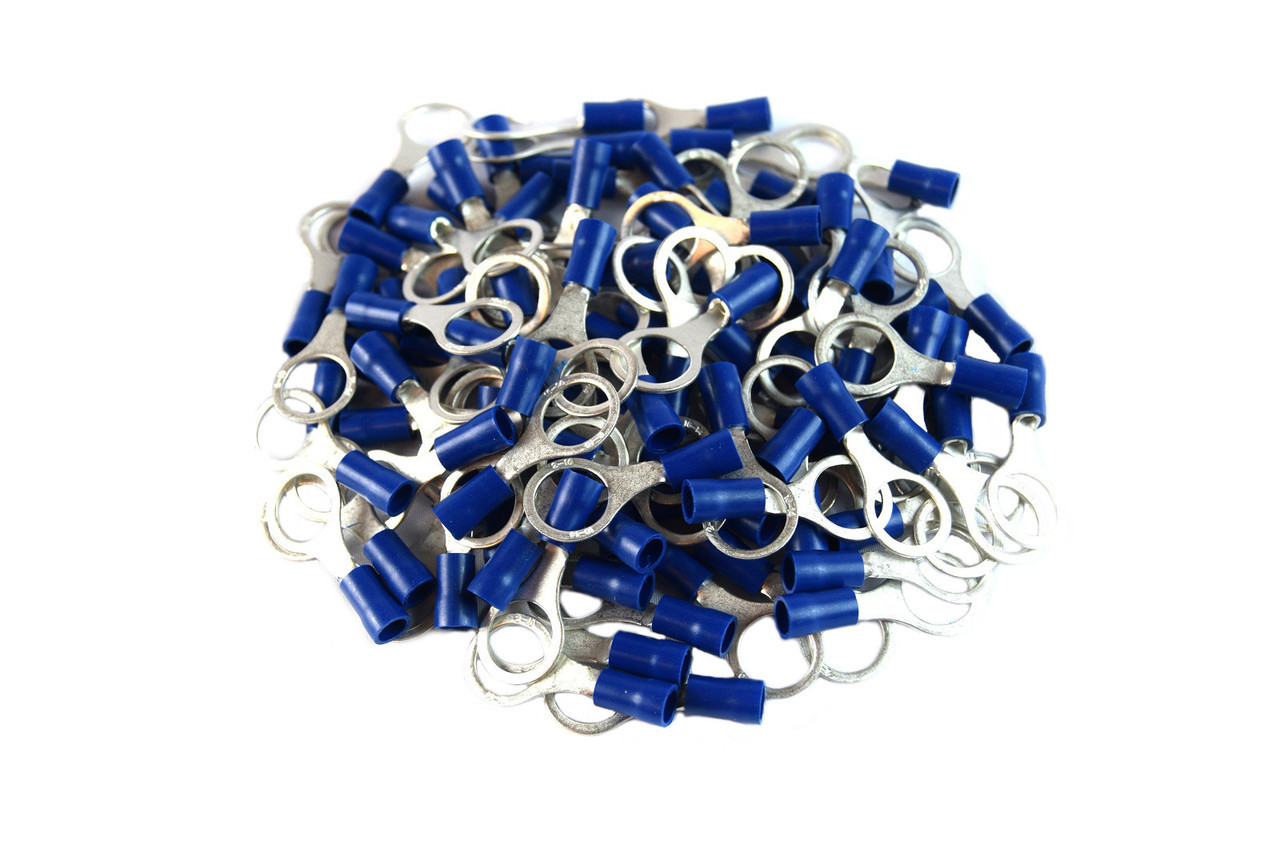 BVRT516 Install Bay Vinyl Terminal Ring Connector 5//16 Inch 16//14 Gauge 100 Pack Blue