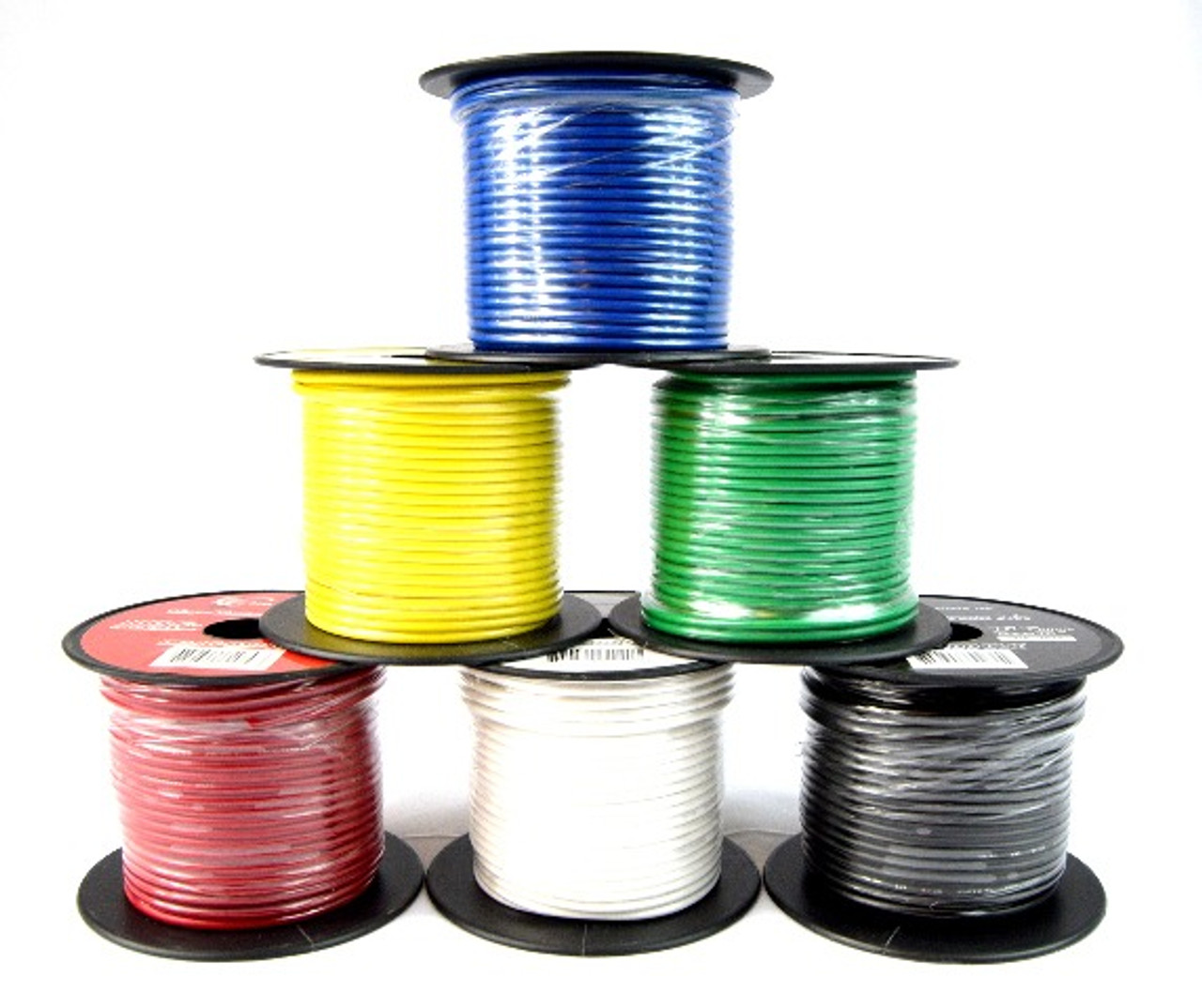6 Rolls 16 Gauge 100 Feet Single Conductor Stranded Remote Wire 600 Total