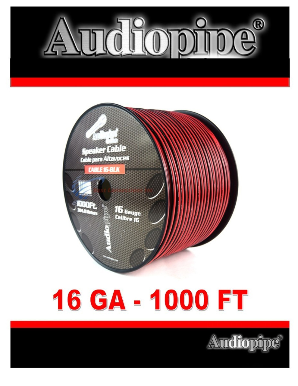 Best Speaker Wire >> 1000 Feet 16 Ga Gauge Red Black 2 Conductor Speaker Wire Audio Cable Audiopipe