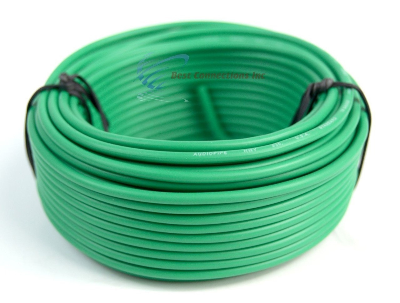 Audiopipe 500/' Feet 12 Gauge Green Primary Remote Wire Car Power Cable Home