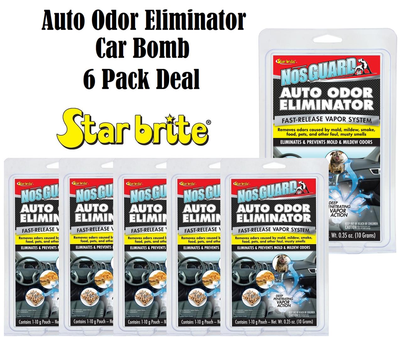 Star Brite 19970 NosGuard SG Auto Odor Eliminator Smoke Pet & Foul Control  6 Pcs