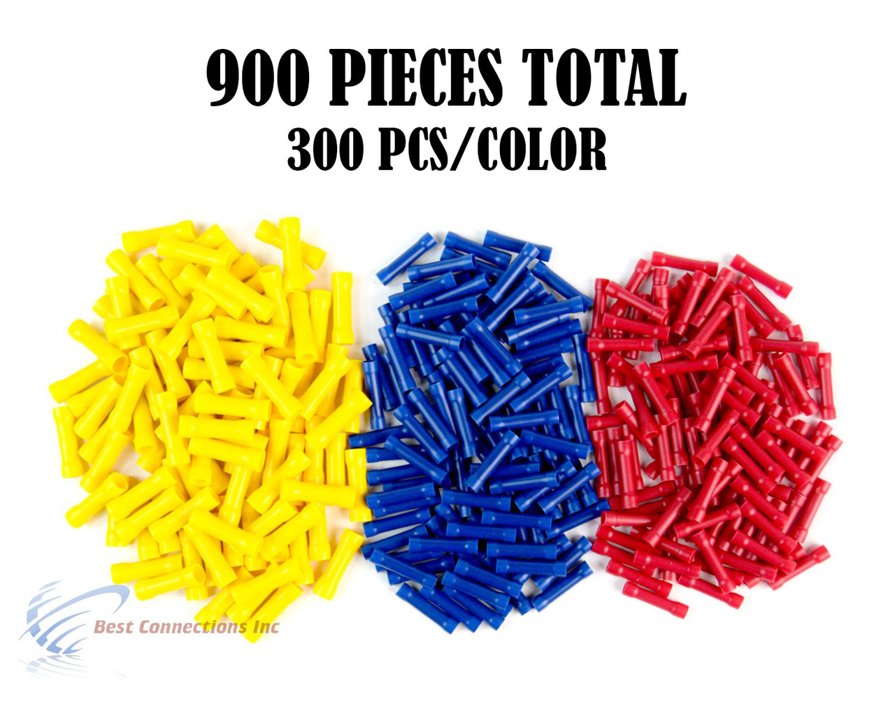 900 RED BLUE YELLOW NYLON BUTT CONNECTOR 22-18 16-14 12-10 AWG GA SCOSCHE