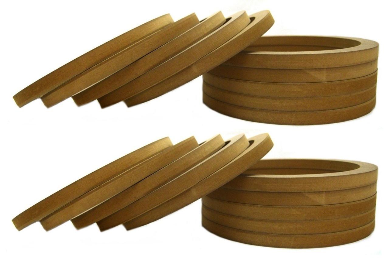 "20 Pack 10/"" MDF Speaker Ring Recessed w// Bezel Custom Car Audio Fiberglass Mold"