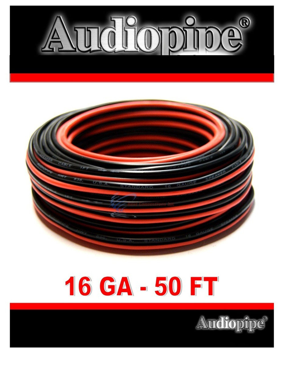 Best Speaker Wire >> 16 Gauge 50 Feet Speaker Wire Red Black Jacket Zip Cord Cable Copper Clad Cca