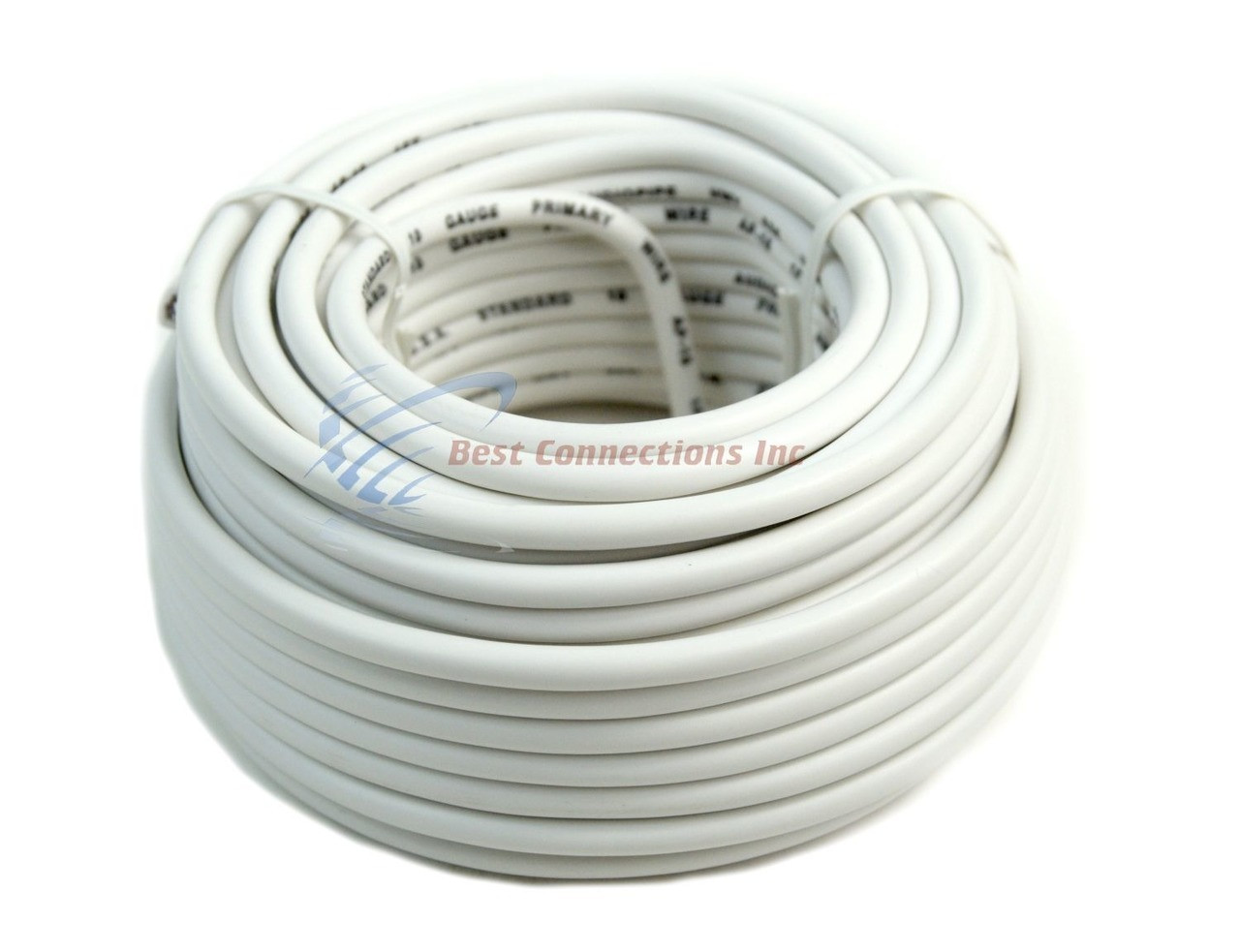 10 Gauge 50 Feet White Audiopipe Car Audio Home Remote Primary Cable Ethernet Wiring Wire Led