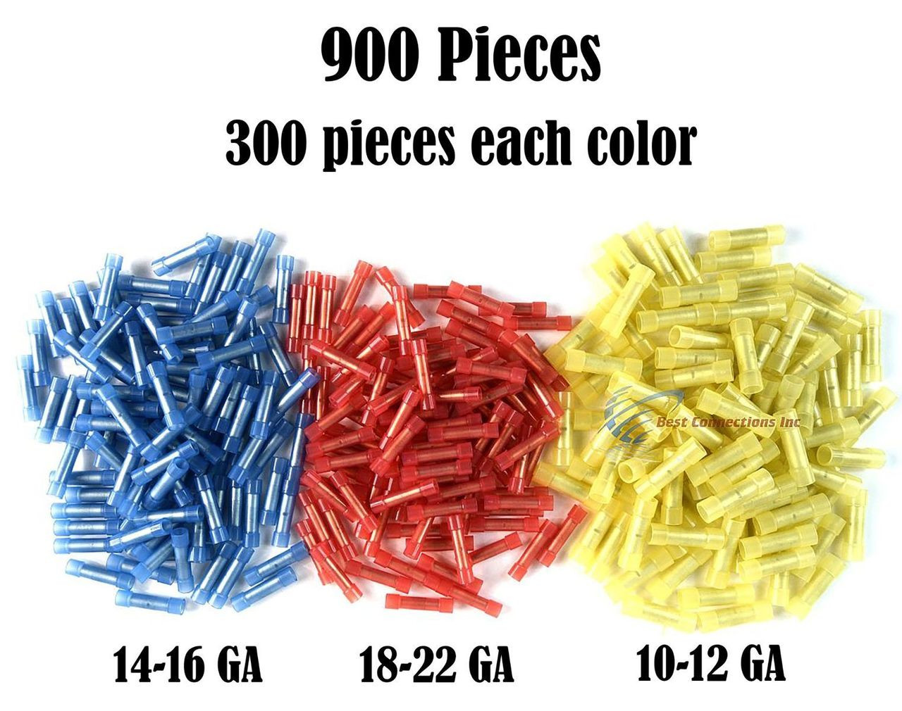 Wire Butt Connectors Red//Blue//Yellow Nylon 100 ea 300