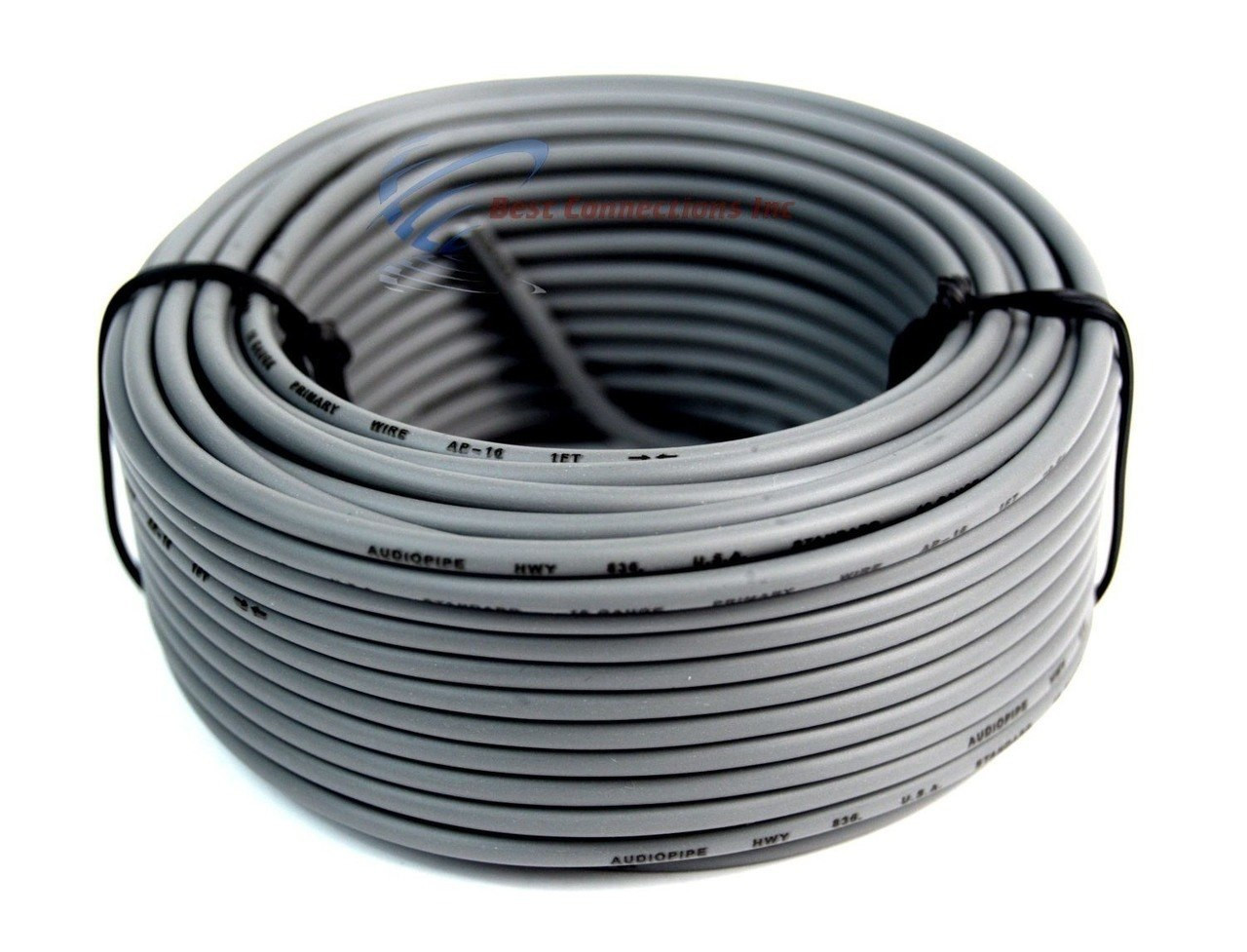 Audiopipe 50' Feet 16 Gauge GREY Primary Remote Wire Car Auto Power on