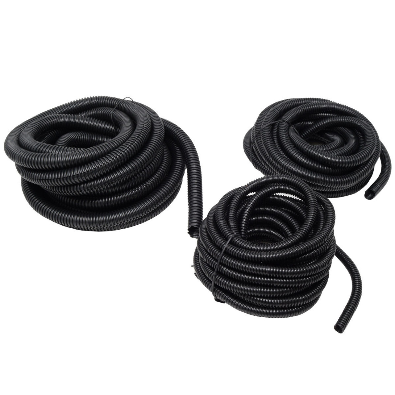"100 FT EACH SIZE 1//4/"" 3//8/"" 1//2/"" SPLIT LOOM POLYETHYLENE WIRE TUBING CABLE"