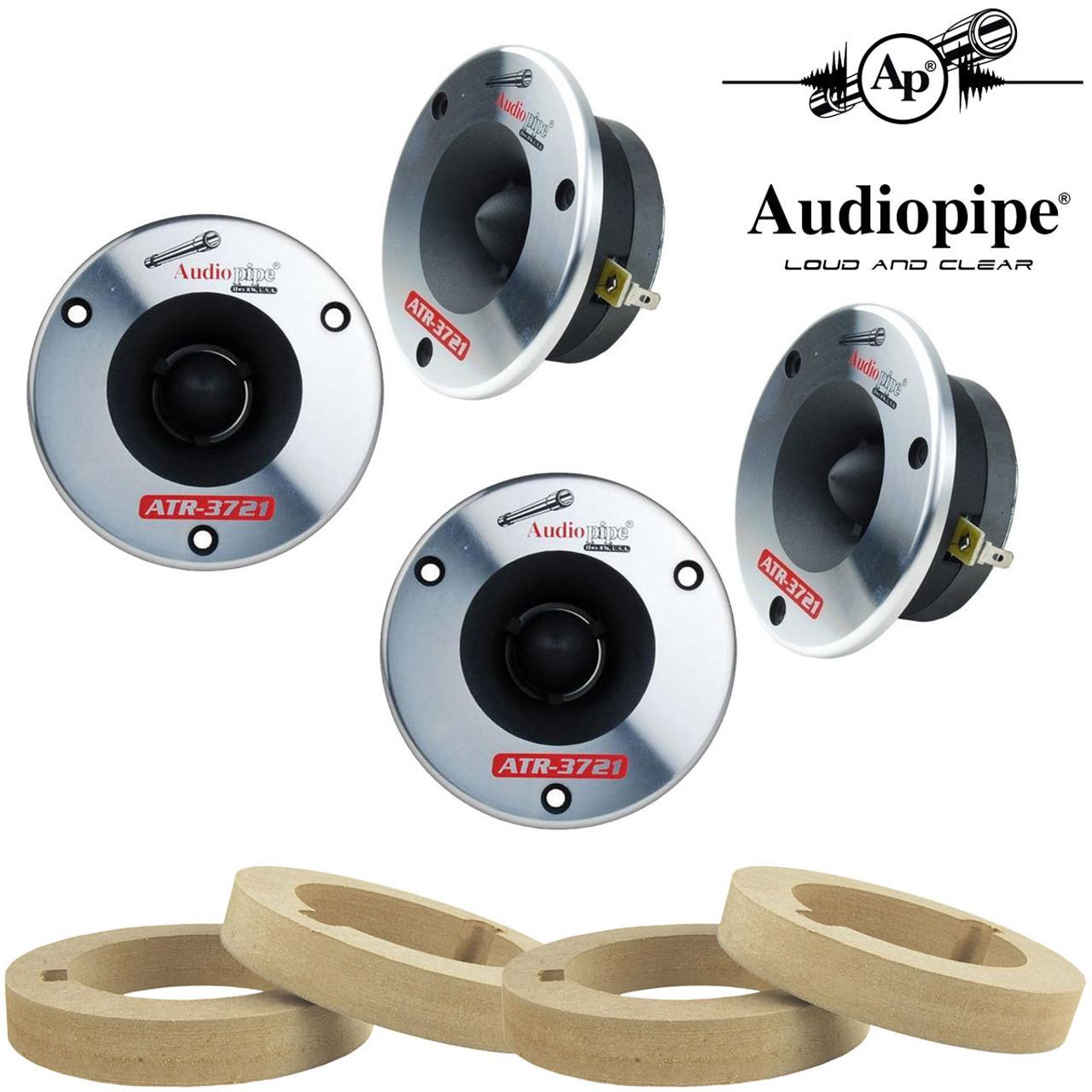 Custom MDF Tweeter Adapter Rings 2.91 ID x 4.33 OD Car Audio Installation 1 Pair