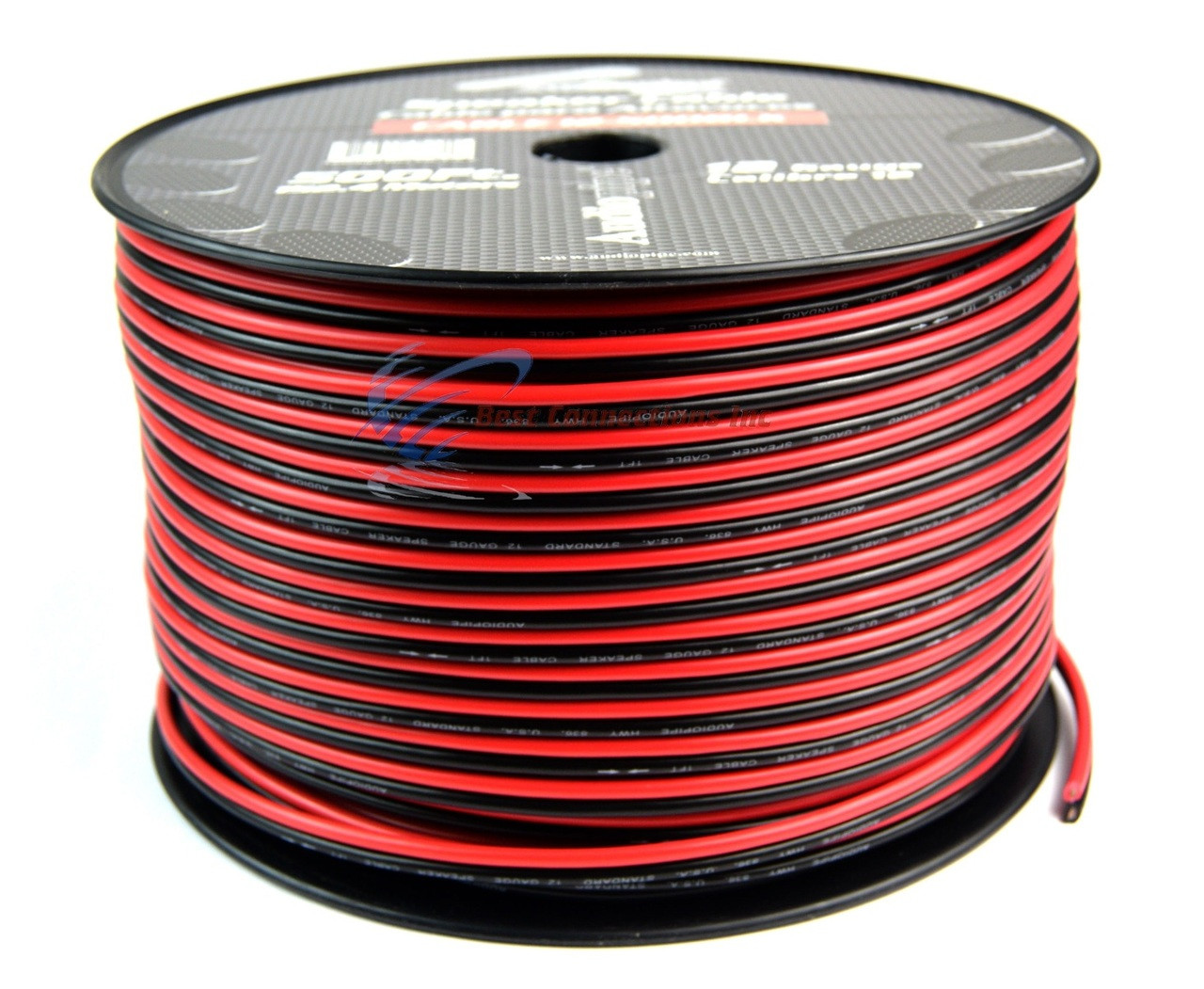 12 gauge 500 feet red black speaker zip wire cable hobby motorcycle car  audio