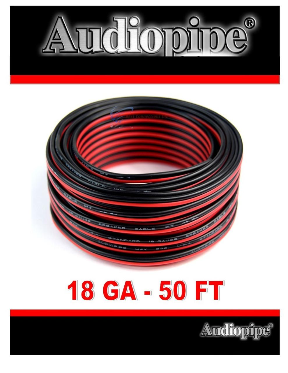 Best Speaker Wire >> 18 Gauge 50 Feet Red Black Speaker Wire Copper Clad Aluminum Zip Cable 12 Volt
