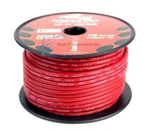 10 Gauge 4 Rolls 100Ft Primary Auto Remote Power Ground Wire Cable Audiopipe