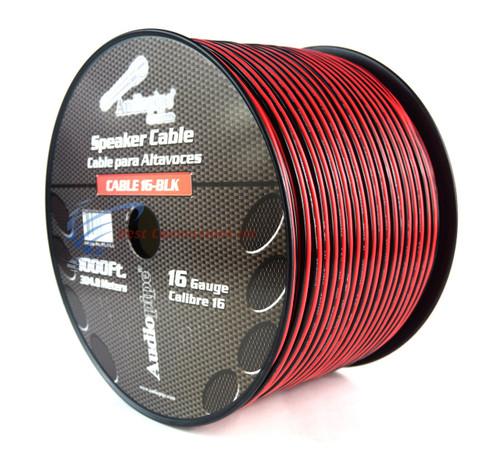 1000' Feet 16 GA Gauge Red Black 2 Conductor Speaker Wire Audio Cable Audiopipe