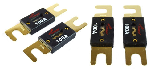 One Pair 50 Amp ANL Fuses Gold Plated Audiopipe Car Audio Stereo