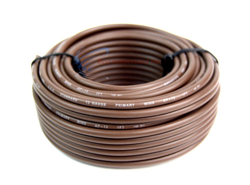 18 Gauge 50 Feet Brown 1 Roll Remote Primary Cable Wire LED
