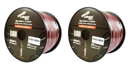2 Rolls 10 Gauge 100 Feet Zip Red Black Speaker Power Ground Wire Cable