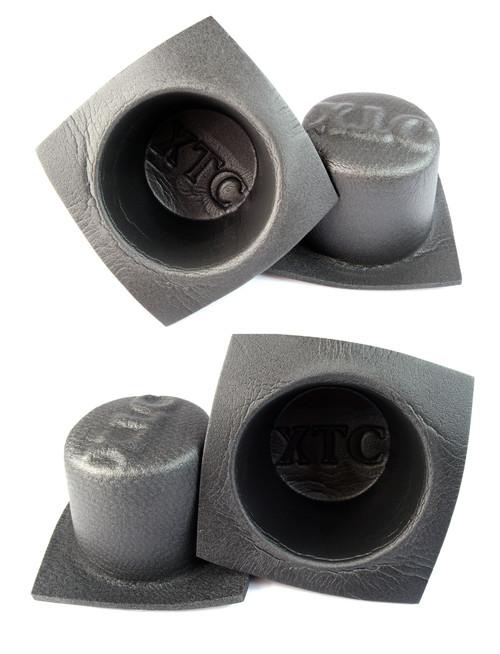 "6"" Round Large Frame Foam Car Speaker Baffles 2 PAIRS 6 Inch VXT60 Install Bay"