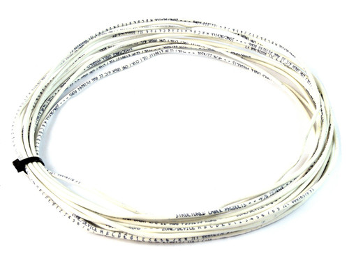 22 Gauge 100 Feet 2 Conductor Stranded Copper Cable Alarm Wire White UL Rated