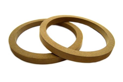 """5 Pair 10"""" MDF Speaker Mounting Spacer Rings For Fiberglass RING-10R 10 Pack"""