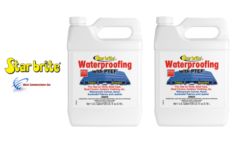 2 Pack Star Brite 81900 Fabric Waterproofing w/ PTEF Tent Boat Cover 2 Gal Total
