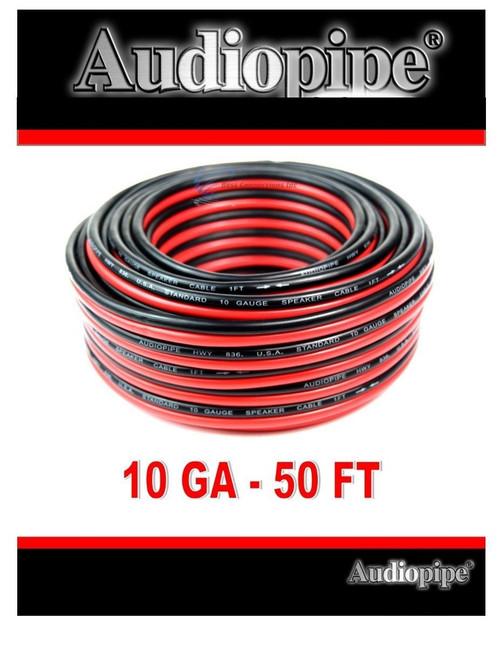 50' FT 10 Gauge Red Black Zip Wire Speaker Cable Copper Clad Car Audio Audiopipe