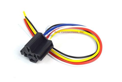 12v DC SPDT 30/40A 5 Wire 16-14 GA Gauge Relay Socket Harness 2 Pack ERS-124