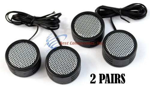 2 PACK 500w High Frequency Car Truck  Stereo Super Tweeters Built-in Crossover XTC-3300