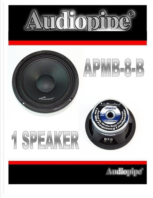"8"" 500 Watt Car Audio DJ Full Range Loud Speaker Mid Range Low APMB-8-B"