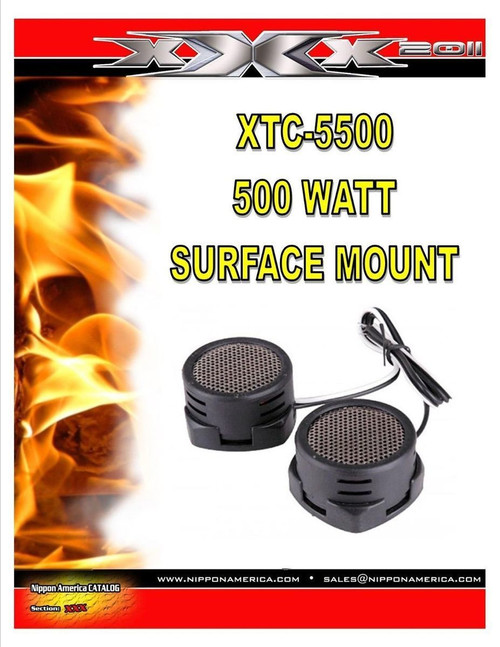 500w High Frequency Car Truck Boat Stereo Tweeters Built-in Crossover XTC-5500