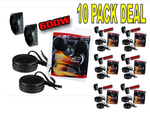 10 PACK 600w High Frequency Car Truck Boat Stereo Tweeters Built-in Crossover XTC-7700