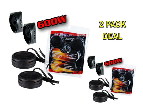 2 PACK 600w High Frequency Car Truck Boat Stereo Tweeters Built-in Crossover XTC-7700