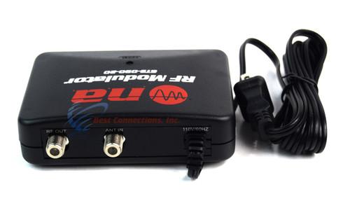 RF Modulator Universal AV Audio Video Signal Input Output Converter TV 2 Pack