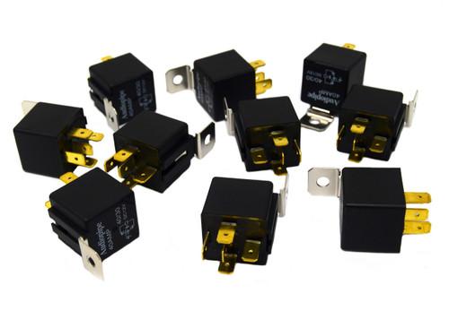 10 Pack 12 Volt DC 30 40 Amp Sealed Relay Metal Tab Car Audio Alarm Audiopipe
