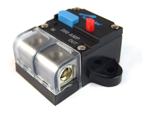 200 Amp 12 Volt Manual Resettable Circuit Breaker Car Audio and Marine CB-200A