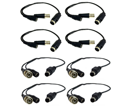 4 Pair Male and Female LOREX Cable CCTV Security DIN 4-6 Pin to BNC Connector