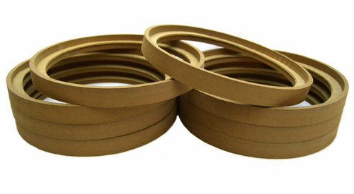 """4 Pair 10"""" MDF Speaker Ring Recess with Bezel Mounting Spacer RING-10BZ (8 pcs)"""