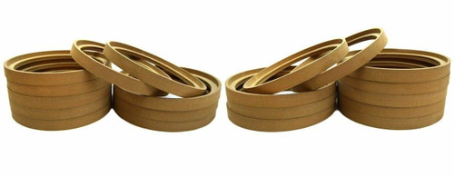 """10 Pair 10"""" MDF Speaker Ring Recess with Bezel Mounting Spacer RING-10BZ (20pcs)"""