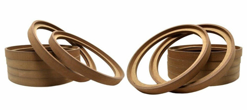 """6 Pair 10"""" MDF Speaker Ring Recess with Bezel Mounting Spacer RING-10BZ (12 pcs)"""
