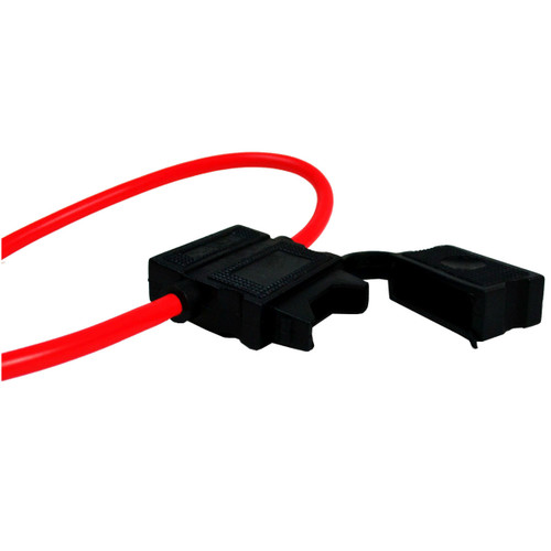 USA 10 10 10 GAUGE ATC FUSE HOLDER With COVER + 25 AMP FUSES IN-LINE 10 GA