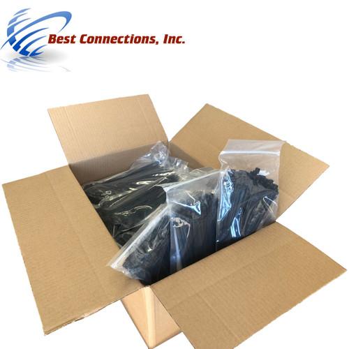 "10,000 Pcs 7"" Black Nylon Cable Zip Ties 50 Lbs Tensile Strength"