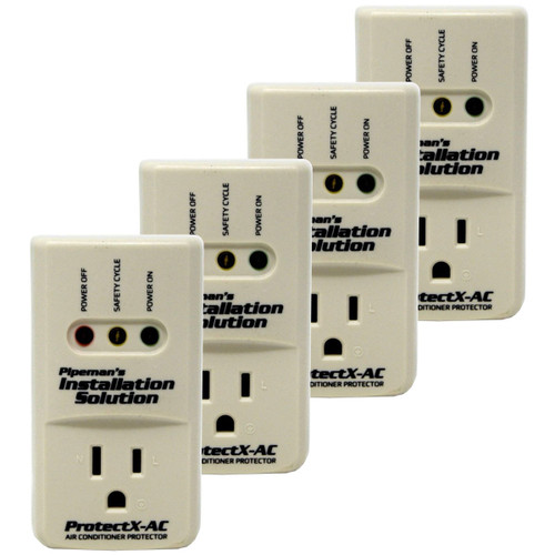 4-Pack 3600 Watts Air Conditioner Surge Brownout Voltage Protector (New Model)