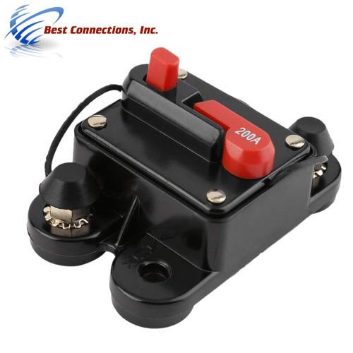 200 Amp Circuit Breaker In-line 12V-24V Auto Marine Car Stereo Audio 200A Reset