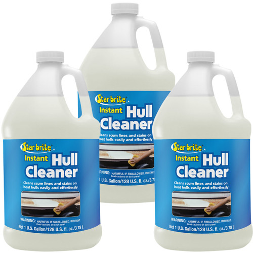 Star Brite Instant Hull Cleaner 1 Gal. Cleans Boat Scum Lines and Stains 3-Pack