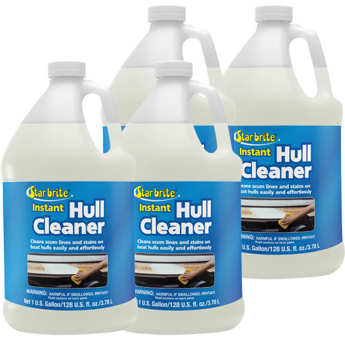 Star Brite Instant Hull Cleaner 1 Gal. Cleans Boat Scum Lines and Stains 4-Pack